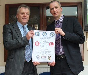 The Principal and Vice-Principal of Dalriada School, Mr. Tom Skelton and Dr. Ian Walker, are inviting the entire Ballymoney Community to the school's playing fields on May 28th to attempt to break the Guinness World Record for the Largest Human Currency Symbol.
