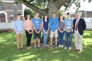 Some of the 11 Pupils who achieved an outstanding 10 A*/A grades at GCSE in 2016
